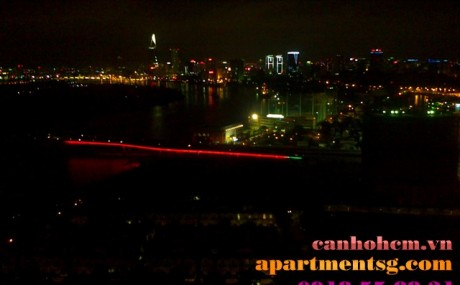 Apartment for rent in Sai Gon Pearl Ruby 2 32th floor not full furniture