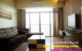 Garden Court nice apartment for rent in Phu My Hung: 3 bedrooms , 5th floor, park and Ban Nguyet lake, fully furnished, new apartment, $ 1300/month.