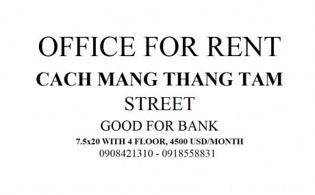 Cach Mang Thang Tam Street office for rent - House for rent